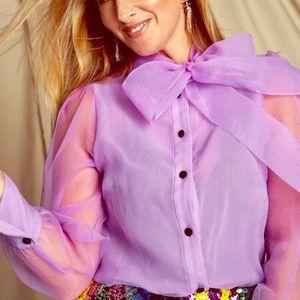 Zara Purple Organza Blouse